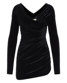 Aksamitna sukienka mini