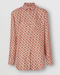 Jedwabna koszula z monogramem