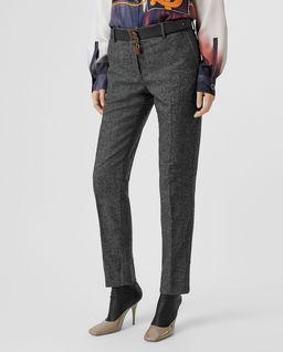Tweedowe spodnie z wełny