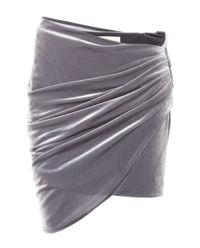 Aksamitna spódnica mini