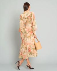 Jedwabna sukienka midi
