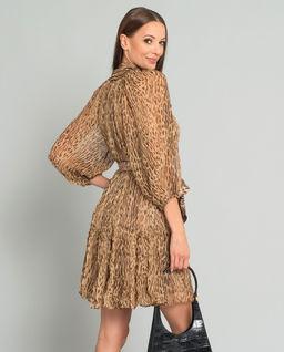 Jedwabna sukienka w cętki