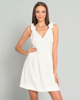 Biała sukienka z kokardami