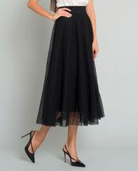 Czarna tiulowa spódnica