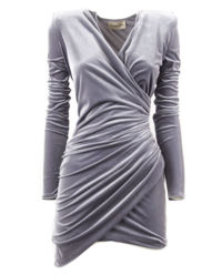 Szara sukienka mini