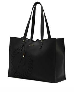 Czarna torebka shopper  z logo