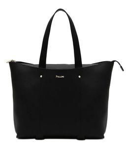 Czarna torebka z logo