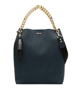 Niebieska torba shopper z logo