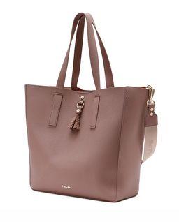Beżowa torebka z logo