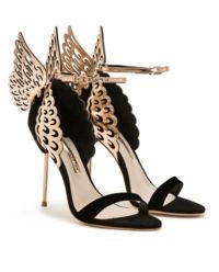 Czarne sandały na szpilce Evangeline