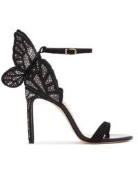 Czarne sandały na szpilce Chiara