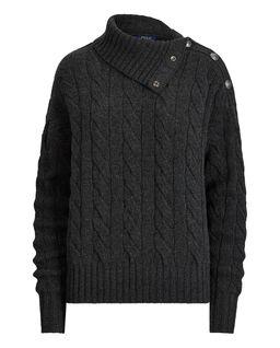 Vlněný svetr s příměsi kašmíru