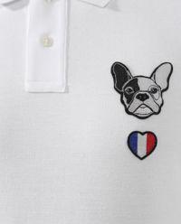 Biały t-shirt polo