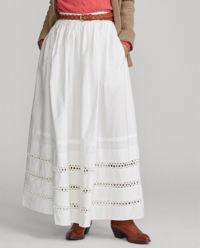 Maxi sukně s krajkou