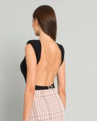 Czarne body z odkrytymi plecami
