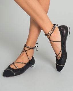 Czarne baleriny Mystique