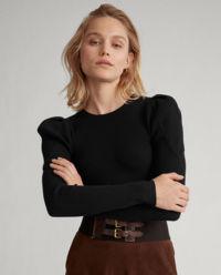 Sweter z bufiastymi ramionami