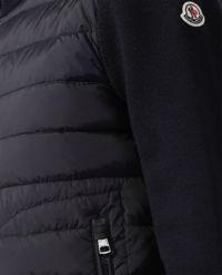 Granatowa bluza z pikowaniem