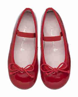 Czerwone baleriny z kokardką