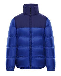 Niebieska kurtka puchowa