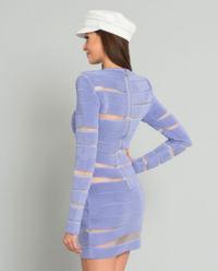 Llliowa sukienka mini