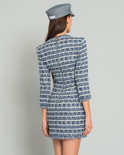 Tweedowa sukienka w pepitkę