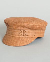 Slaměná čepice se štítkem