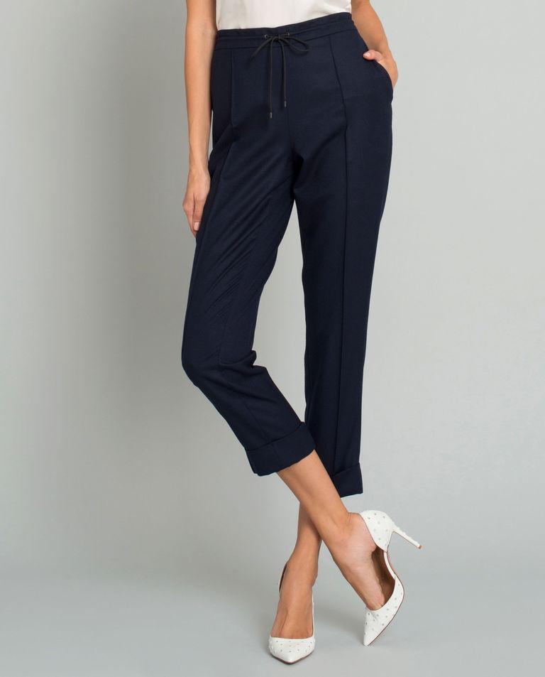 Granatowe wełniane spodnie