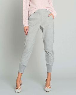 Szare spodnie z lampasem