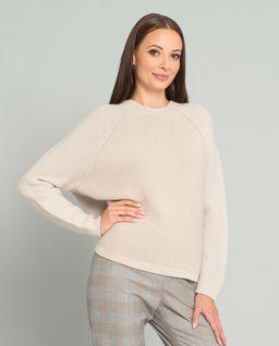 Beżowy sweter z wełną
