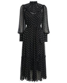 Jedwabna sukienka w kropki