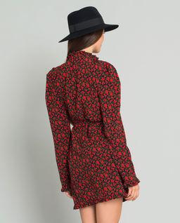 Sukienka kopertowa z jedwabiem Darkrose