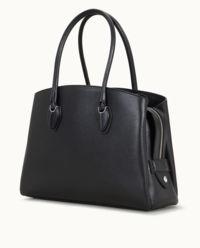 Czarna torebka shopper medium