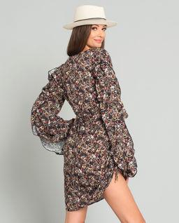 Šaty s hedvábím Casandra