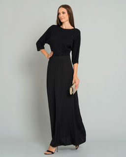 Czarna sukienka z cekinami