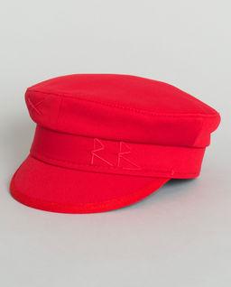Czerwony kaszkiet z bawełny