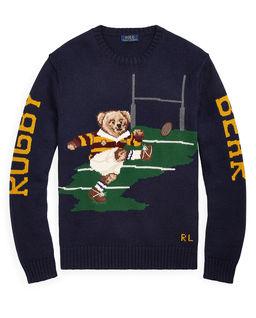 Bawełniany sweter z misiem