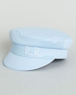 Niebieski kaszkiet z bawełny