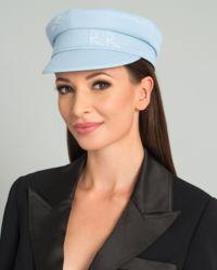 Modrá bavlněná čepice se štítkem