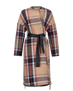 Płaszcz w kratę Riannodare