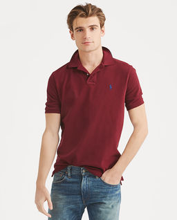 Bordowa koszulka polo