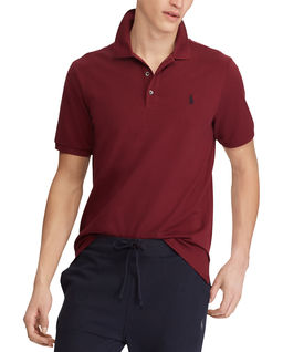 Bordowa koszulka Slim Fit