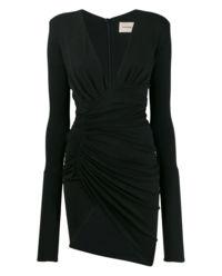 Černé šaty se záhyby
