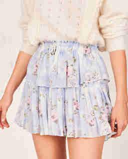 Hedvábná mini sukně