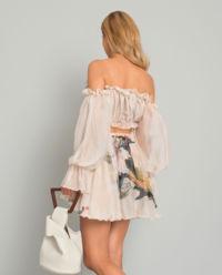 Sukienka jedwabna Margaret Flowers