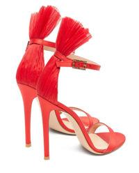 Czerwone sandały na szpilce Belvedere