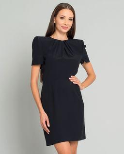 Černé hedvábné šaty