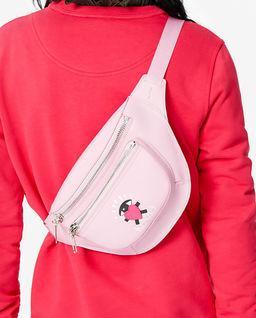 Różowa torebka na pas Limited
