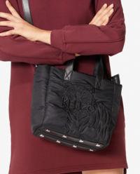 Czarna torebka tote z tygrysem