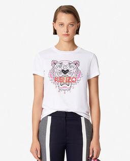 Biały t-shirt z tygrysem